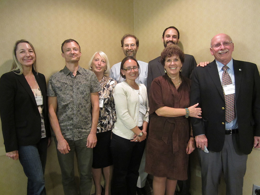 The Movable Book Society Board members at the 2012 Conference.